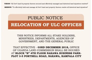 Relocation Of ULC Offices